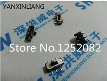100PCS toggle / power / slide switch 6 foot pull switch SMD MST-22D18G2 six feet high 2MM SMD handle
