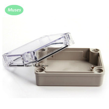 Transparent Cover Waterproof Plastic Junction Box Outdoor Weatherproof Plastic Enclosure Cable Connect Box 80*110*45mm connector(China)