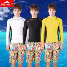 Long Sleeve Rashguard Swim Shirts Mens Rash Guard Surf Shirt Swimwear Swimming Diving Suit Wetsuit Top Brand Sale N