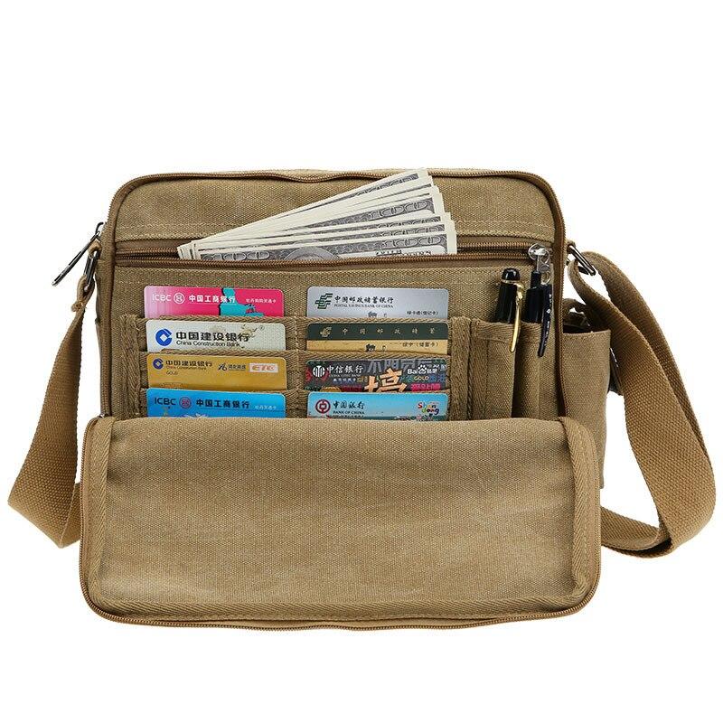Large Capacity Canvas Multi-function Mens Crossbody Shoulder Bag Messenger Bag Travel  Tool Kit Organizer Bags<br><br>Aliexpress