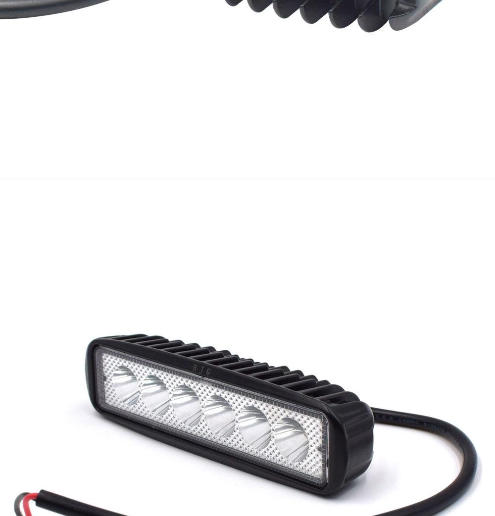 12V 24V Auto LED Light 18W Car Work Lamp Boat Vehicle Top Head Bulb 2000LM IP67 Waterproof Flood Beam Lighting Spot Lights (4)