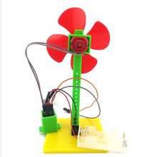 100X DIY Creative Light-Controlled Small Fan Manual Scientific Teaching Educational Toy For Kids Children(China)