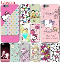 Lavaza Animation Hello Kitty mobile phone bag Hard Case for iphone 4 4s 5c 5s 5 SE 6 6s 6/7/8 plus X for iphone 7 case(China)