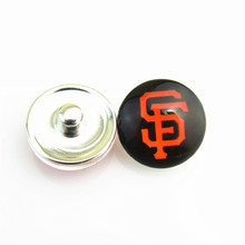 20pcs/lot Classical MLB San Francisco Giants Baseball Hat Logo Sports Snap Button for 18mm Ginger Snap Bracelet Jewelry