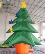 free fans   wonderful star Christmas tree advertising inflatable   for decoration  holiday events