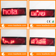 2016 New RED LED Name Badge Tag Programmable Sign Moving LED Message Display(China)