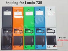 TWTR Back Cover Case for Nokia lumia 735 Back Shell Battery Cover Replacement for Nokia 735 with wireless charging part(China)