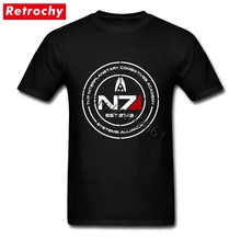 Cheap Pricing Men Mass Effect N7 Cadet T-Shirt Tees Shirt Short Sleeve Custom Designer T shirt Teenagers Big Tall Size Tee(China)
