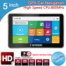 New 5 inch HD Car GPS Navigation 800MHZ FM/8GB/DDR3 2017 Maps For Russia/Belarus/  Europe/USA+Canada TRUCK Navi Camper Caravan