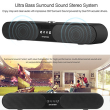 Portable 10W Wireless Bluetooth Speaker Soundbar Super Bass Stereo Loudspeaker 1200mah Mini TV Speakers with AUX for Phone PC