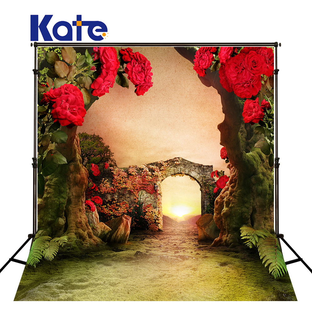Kate 8X8FT Floral Courtyard Wedding Backdrops Garden  Photo Flower Wall Wedding Backdrops Washable and Wrinkle Free Background<br>