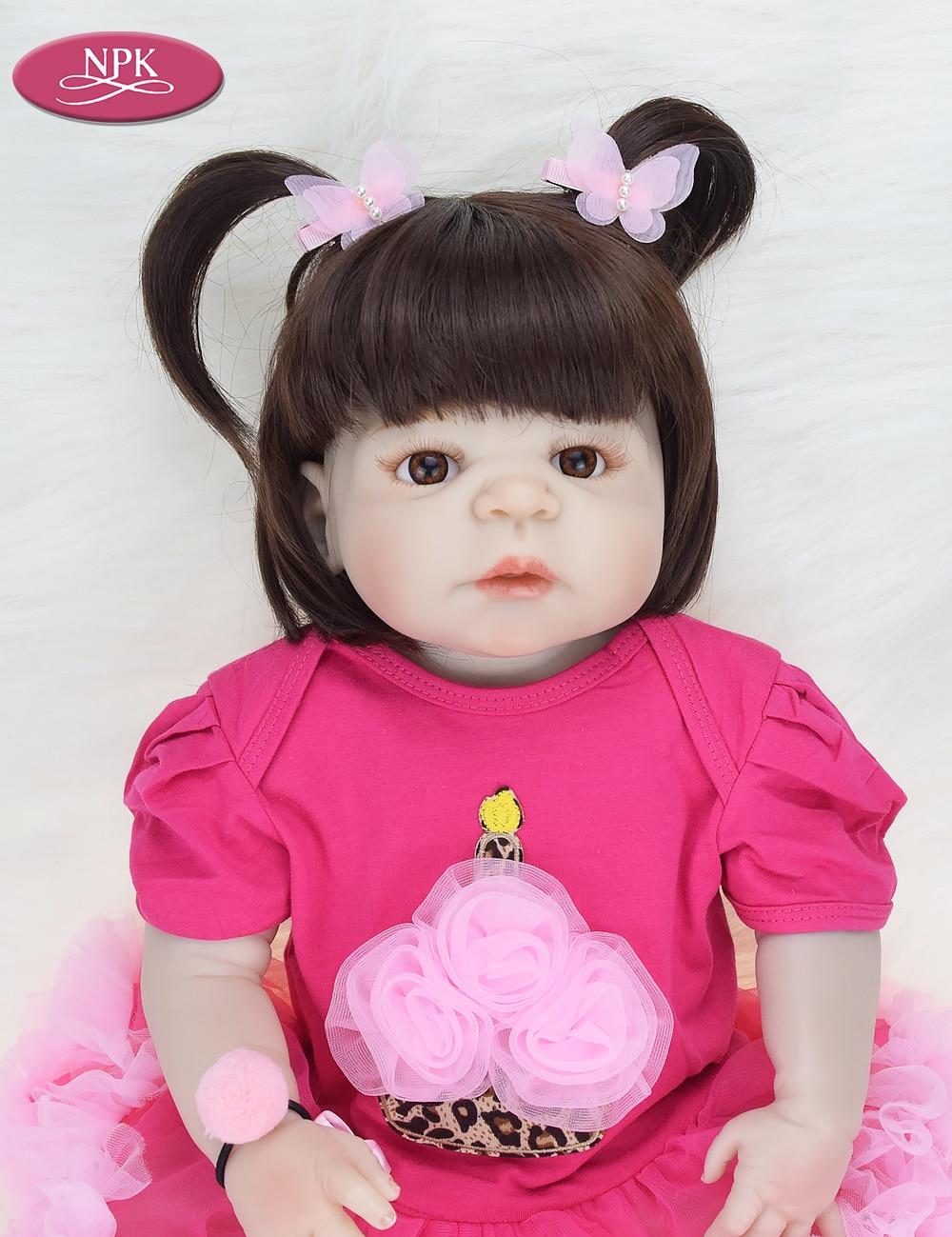 NPK 57CM Full Body Soft Silicone Girls Reborn Baby Doll Bathe Toys Lifelike Princess Girl Dolls Bebe Real Reborn Boneca Menina  (12)