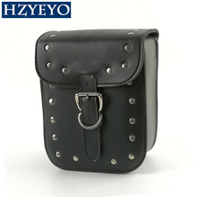 HZYEYO  Black Prince's Car Motorcycle Cruiser Side Box Tool Bag Imitation leather&Saddle Bags Tail Bags  Cases One Piece D812