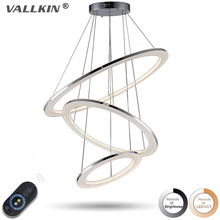 VALLKIN Dimmable Pendant Light Modern LED  Pendant Light LED Pendant Lamp Acrylic Hanging Lamps Lignting for home with Remote