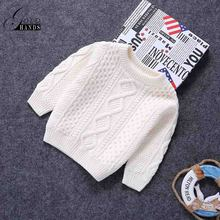 Baby Children Sweaters O-Neck Warm Sweater Children Toddler Kids Pullovers Plush Velvet Inside Winter Autumn Knitted Loose Top(China)