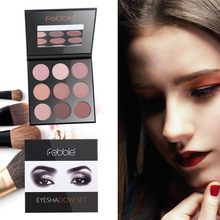 Eye Shadow Pallete 9 Color Matte And Shimmer Eyeshadow Powder Pigment Eyes Makeup Glitter Eyeshadows Earth Palette(China)