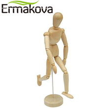 ERMAKOVA 8 Inches Tall Wooden Human Mannequin Movable Limbs Human Artist Model Wooden Manikin Drawing Mannequin Model(Unisex)