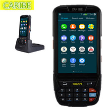 Caribe PL-40L rugged Android 5.1 handheld pda outdoor passive NFC rfid 13.56mhz long reader and 1d barcode scanner engine(China)
