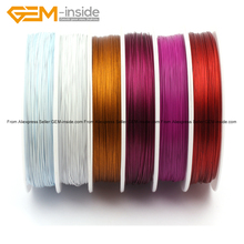 50m Assorted Color High Quality Polyester Alloy Wire Spool Jewelry Finding Beading Cord Fashion Jewelry Diy Making Wholesale