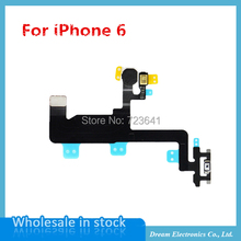 "10pcs/lot  Power Flex Cable for iPhone 6 6G 4.7"" Switch On Off Sensor Proximity Ribbon Replacement parts free shipping"