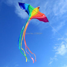 78 inch huge Rainbow Kite parrot Bird single line for kids and Adults delta kites Outdoor fun sports toy Beach with flying line