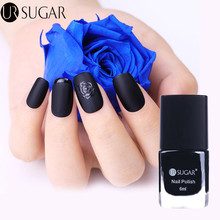 UR SUGAR 6ml Black Matte Dull Nail Polish Pure Color Lusterless Lacquer Manicure Nail Art Varnish Polish UV Gel Polish(China)