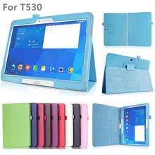 Case Cover for Samsung Galaxy Tab 4 10.1 SM T530/T531/T535 Ultra Thin Flip pu Leather Stand Tablet Case Cover free shipping+film(China)