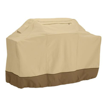 182cm Waterproof BBQ Cover Garden Patio Barbecue Grill Protection Grill Cover with Storage Bag (Khaki)