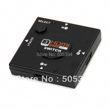 Mini 3 Port HDMI Switch Switcher Splitter 3 input 1 Output Box HDMI Selector for PS3 PS4 Smart HDTV 1080P