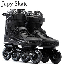 Japy Skate S6 Inline Skates Professional Slalom Adult Roller Skating Shoes Sliding Free Skating Good As SEBA Patines Adulto(China)