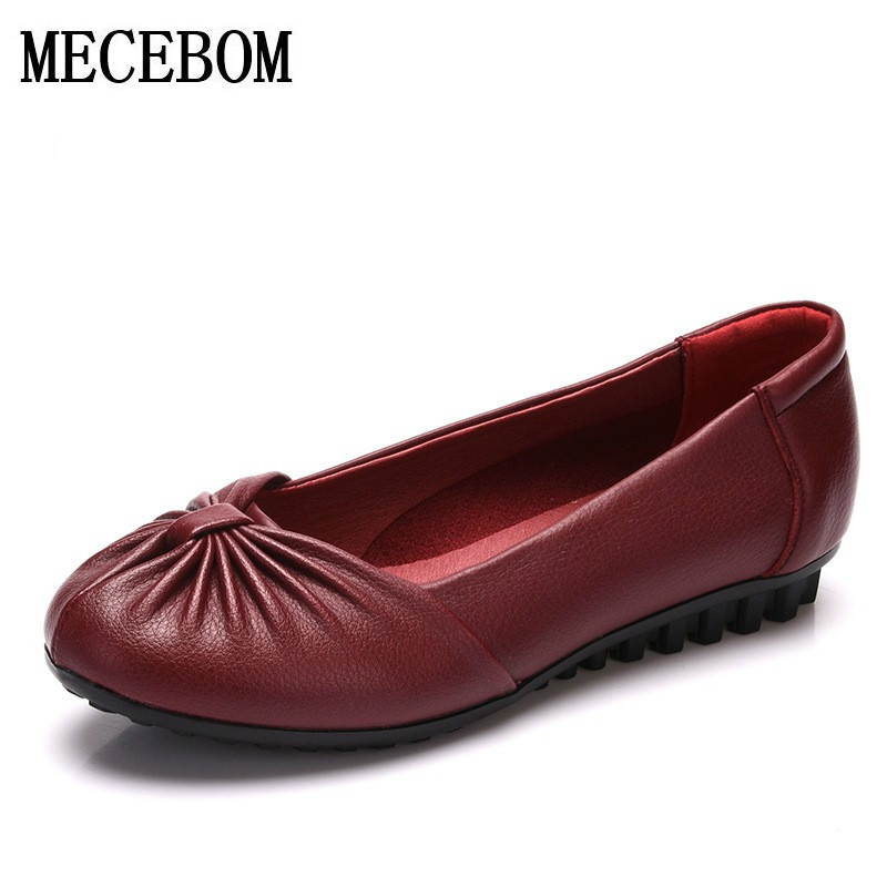 platform Handmade genuine leather women casual shoes women flats shoes oxford shoes for women slip on leather car-styling 1410W<br>