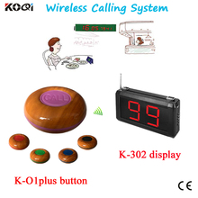 Wireless Service Waiter Remote Call Bell System Restaurant Table Call Bell Customer Call Waiter Wireless Service Calling System(China)