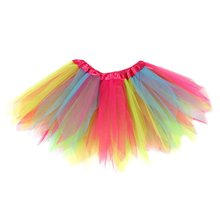 Baby Girls Rainbow Ballet Tutu Skirt Princess Party Skirts Dancewear Tulle Skirts for Girls 2017(China)
