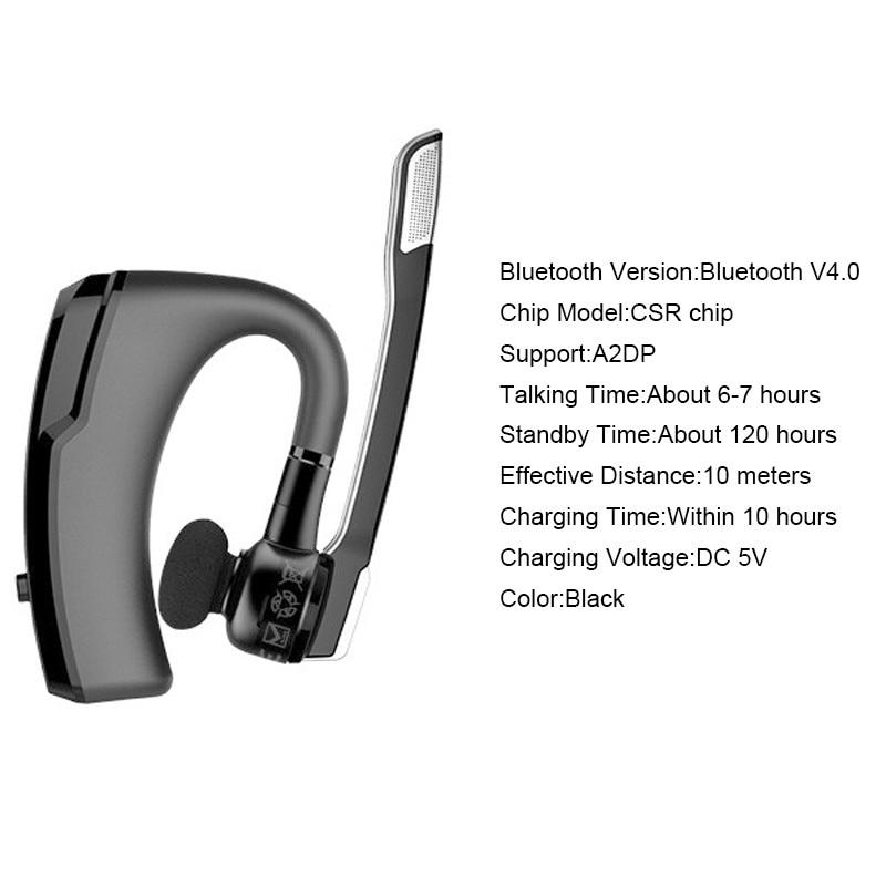 Bluetooth Headset Wireless Earphone Headphones Stereo Sound Ergonomic Ear Hanging Design Business Earphone Noise Cancelling K6