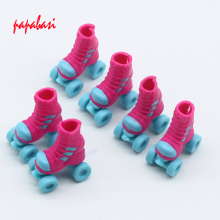 New 1Pair 2.8cm Roller Skate Fancy Doll shoes for Barbie dolls Decorative Toy Kids Girls Toy Roller Play House Accessories