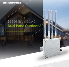 Long Range Outdoor CPE WIFI Router 2.4GHz&5G 1750Mbps Wireless AP WIFI Access Point CPE AP Bridge Client Router with 48V POE