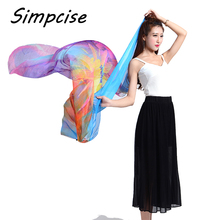[Simpcise] Lady Silk Shawl 2017 Summer Bikini Wraps Pareo Fashion Design Floral Print Scarf Foulard F15A209050(China)
