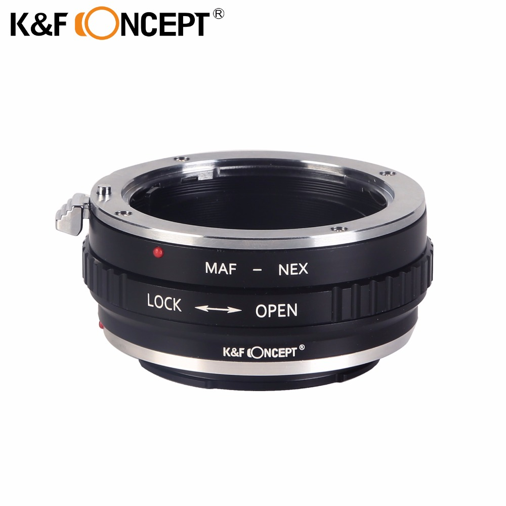 K&F CONCEPT for MINOLTA(AF)-NEX Lens Mount Adapter Ring Aluminum And Copper Material for Minolta AF Lens To NEX Camera Body(China)
