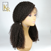 Lace Front Human Hair Wigs For Black Women Remy Brazilian Kinky Curly Wig Pre Plucked With Natural Baby Hair King Rosa Queen(China)