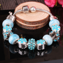 charms biagi Chamilia Italian Bead Bracelet wholesale fashion girls personality DIY craft beaded bracelet(China)