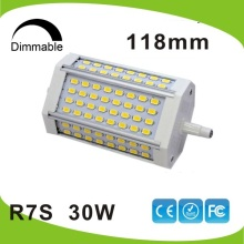 Dimmable 30w led R7S light 118mm R7S lamp No fan J118 R7S RA>80 replace 300W hologen lamp AC110-240V(China)