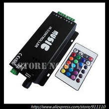 DC12v 10A 120W Music IR Controller Audio Sound Driver Activated IR Controller strip light LED controller For RGB LED Strips