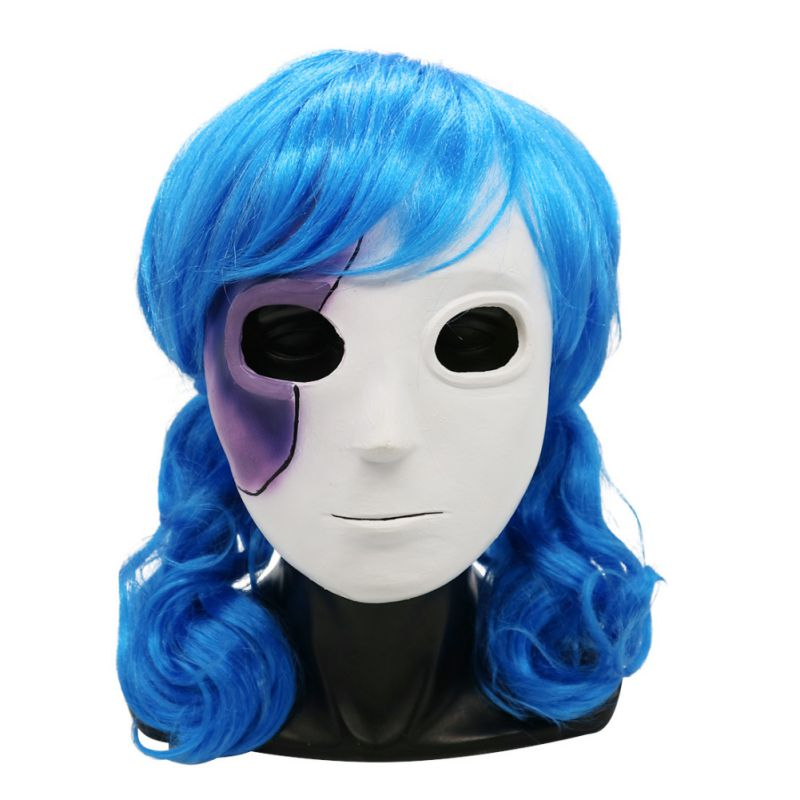 Sally face double ponytail high temperature silk wig long hair Cosplay