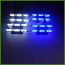 8*9 led Car styling, Traffic light, Alarm warning Tow, Truck ,Car Signal Light 72 LED Emergency Truck Strobe Light Blue/White(China)