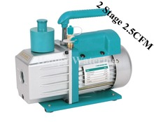 Double Stage 220V/50HZ Refrigeration Rotary Vane Electric Vacuum Pump 0.3pa at 2.5 CFM HVAC AC Air tool R410a R134