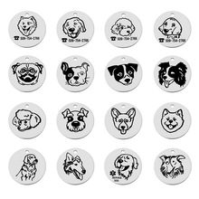 LASPERAL Free Engraving Stainless Steel Pet Dog Tag Customized Name Address Phone Engraving Text Two Sides Blank Pendants Tags(China)