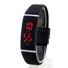 Men Women Rubber Date LED Watch Sports Digital Fashion Bracelet Wrist Watch(China)