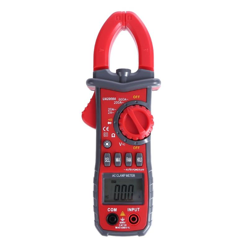 Red Clamp Meter Digital Voltage Current Measurement LCD Backlight Auto Range Ammeter Voltmeter Electrical Instruments<br>