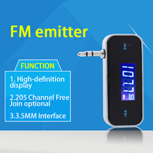 3.5mm Car LCD Display FM Transmitter Mini Wireless Car Audio For iPod Smartphone Electronic Car MP3 Player FM101(China)