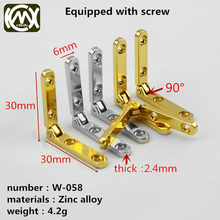 KIMXIN High-end wooden box accessories Jewelry box hinge Zinc alloy seven-letter hinge Screw 10 pieces for sale The simple hinge